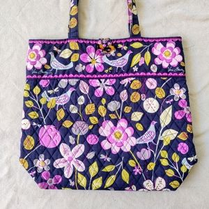 Vera Bradley Nightingale Quilted Tote Bag Purse